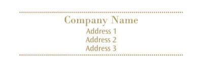 White and Beige Address Label Template